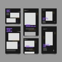 New arrivals fashion social media post and stories template vector