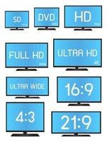 Standard Television Resolution Size vector