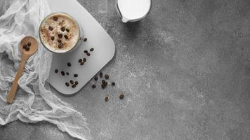 Coffee on table photo