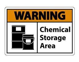 Warning Chemical Storage Symbol Sign vector