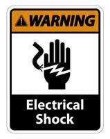 Signo de símbolo de electrocución de descarga eléctrica vector