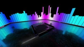 3 d caja de sonido ecualizador rosa y azul vj loop video