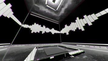 3 d ecualizador blanco y negro caja de sonido vj loop video