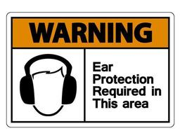 Warning Ear Protection Required In This Area Symbol Sign vector