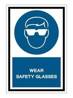 Wear Safety Glasses sign vector