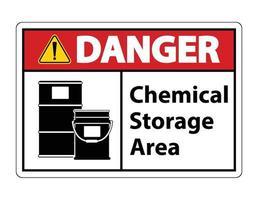 Danger Chemical Storage Symbol Sign vector