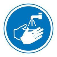 lavarse el símbolo de la mano vector
