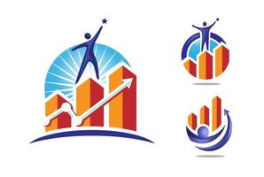 success marketing and Finance logo concept vector