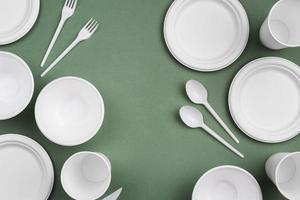 White disposable tableware photo