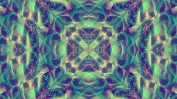 Green and Purple Kaleidoscope Background video