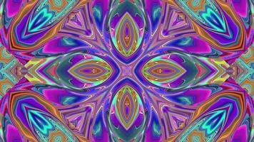 Kaleidoskop Hintergrund mit Ornamenten video