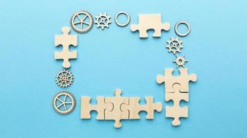 composición plana con elementos de innovación. foto