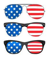 sunglasses with united states of america flag vector