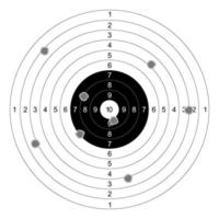gun shooting paper targets vector on white background