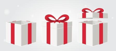 gift box set vector