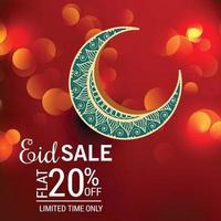 illustration  of a Sale Banner Or Sale Poster For Festival Of Eid Mubarak. vector