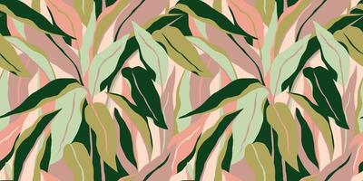 Artistic seamless pattern with abstract leaves. Modern design for paper, cover, fabric, interior decor and other vector