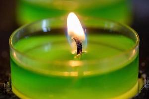 Green tea light photo