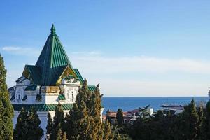 yalta, crimea. paisaje urbano foto