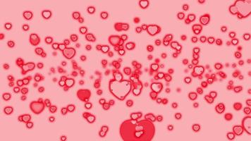 animation de boucle de bulles coeur rose rouge valentines video