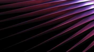 Métal chromé foncé 3D reflétant la boucle de lumière violette video