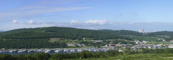 panorama del paisaje con vistas a la bahía de ulises foto