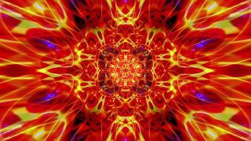 motif de flamme kaléidoscopique à éclat cosmique symétrique video