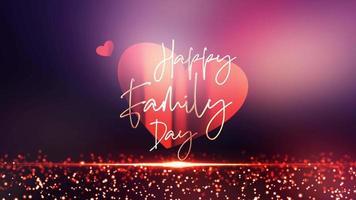 bonne journée de famille belle boucle de titre cinématographique colorée video