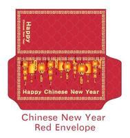 chinese happy new year envelope vector