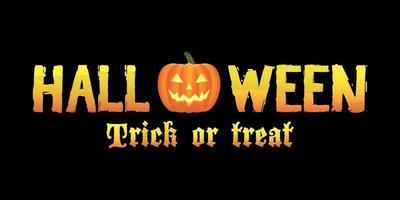 Halloween trick or treat logo vector