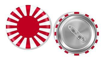 Rising Sun Flag of Japan steel pin vector