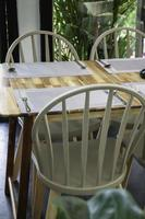 Dining table setting photo