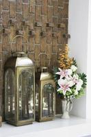 acogedora decoración interior del hogar foto