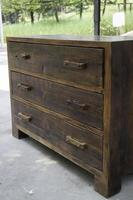 Wooden chest of drawers photo
