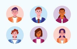 Business People Avatar Collection vector