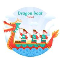 Dragon Boat Festival Celebration vector