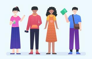 People in Diversity Character Collection Set vector