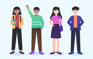 Colección de personajes de personas en diversidad. vector