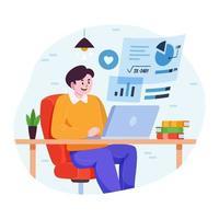concepto de escuela en línea en casa vector