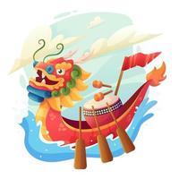 Dragon Boat Festival Design vector
