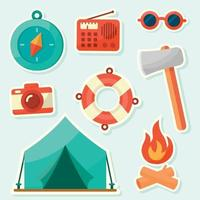 Summer Camp Icon Collection vector