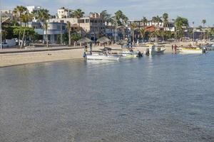 Boats by the beach in the malecon of La Paz Baja California Sur Mexico photo