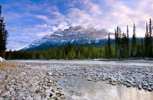 Castle Mountain in Banff National Park Alberta Canada photo