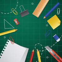 Back to School Stationary Background vector