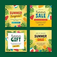 Summer Sale Social Media Post Template vector