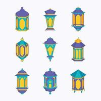 Colorful Lantern of Ramadan Ornament vector
