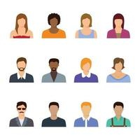 People Avatar Icon Collection vector