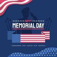 Happy Memorial Day Greeting vector