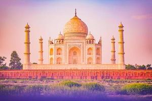 The Taj Mahal in Agra, India photo