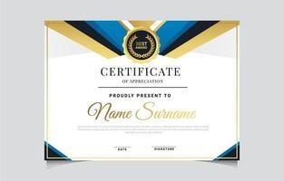 Modern Minimalist Certificate Template vector
